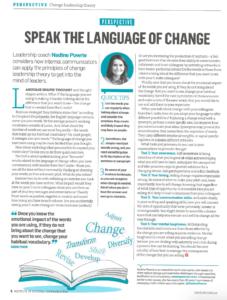 Voice - Speak the language of change